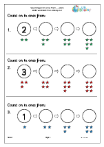 Counting On and Back Maths Worksheets for Early Reception (age 4-5)