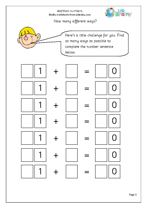 Preview of worksheet Addition numbers