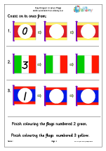 Counting on from - flags