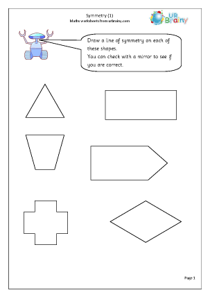 Preview of worksheet Symmetry 1