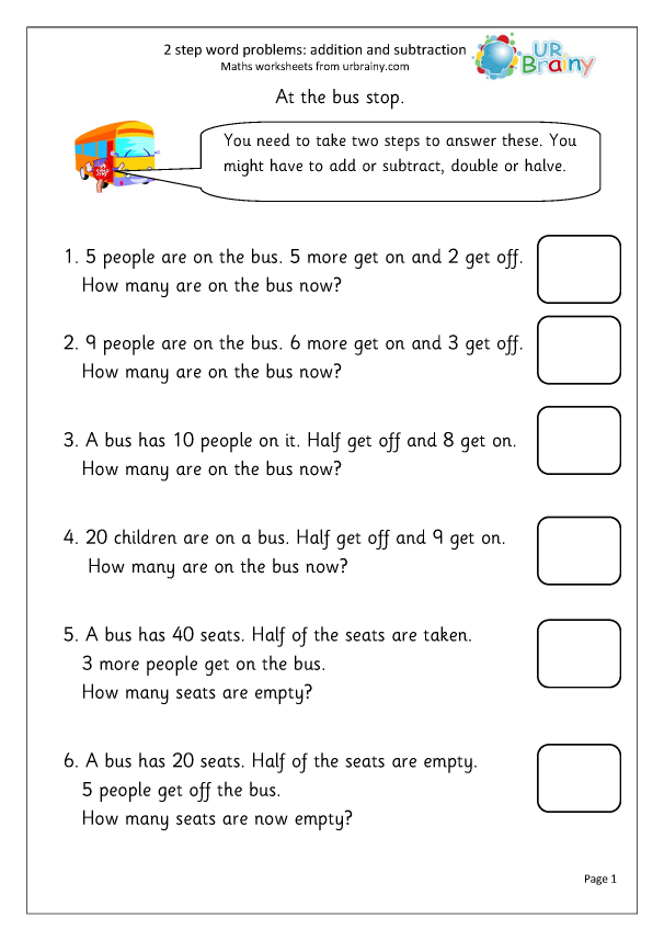 Preview of '2-step word problems (1)'