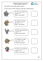 ... and halving Multiplication Maths Worksheets For Year 2 (age 6-7