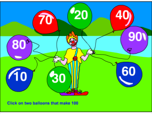 Two balloons that make 100