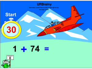 Use known number facts to add a single digit to any two-digit number
