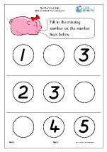Number Lines (3) - Pigs