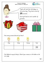 Presents challenge