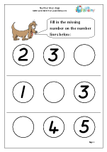Number Lines (3) - Dogs