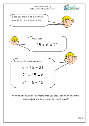 Preview of worksheet Know other facts (2)