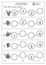 Number Lines (4) - Gorillas