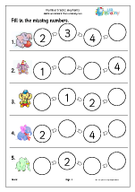 Number Lines (4) - Elephants
