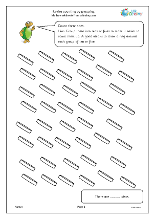 Preview of worksheet Revise counting by grouping