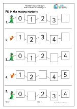 number lines 5 dinosaurs number lines maths worksheets for early reception age 4 5. Black Bedroom Furniture Sets. Home Design Ideas