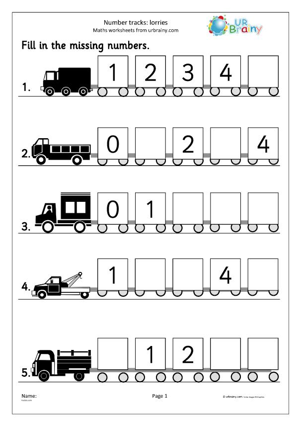 Preview of 'Number tracks (5) - lorries'