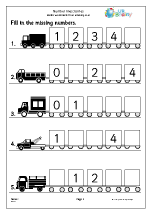 Number Lines (5) - Lorries