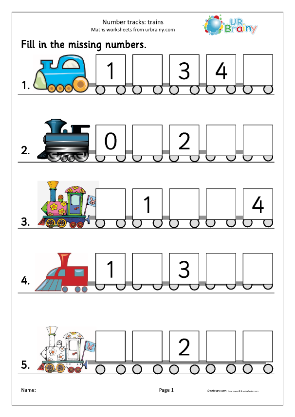Preview of 'Number tracks (5) - trains'
