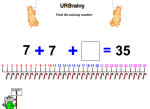 Find The Missing Number Using a Number Line