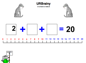 Numbers To Make 20 With a Number Line