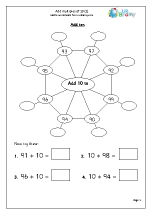 Addition Maths Worksheets for Year 3 (age 7-8)