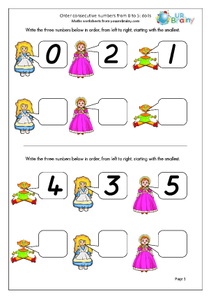 Order 3 Consecutive Numbers - Dolls