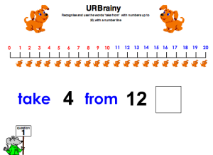 Preview of game Using Take From With A Number Line