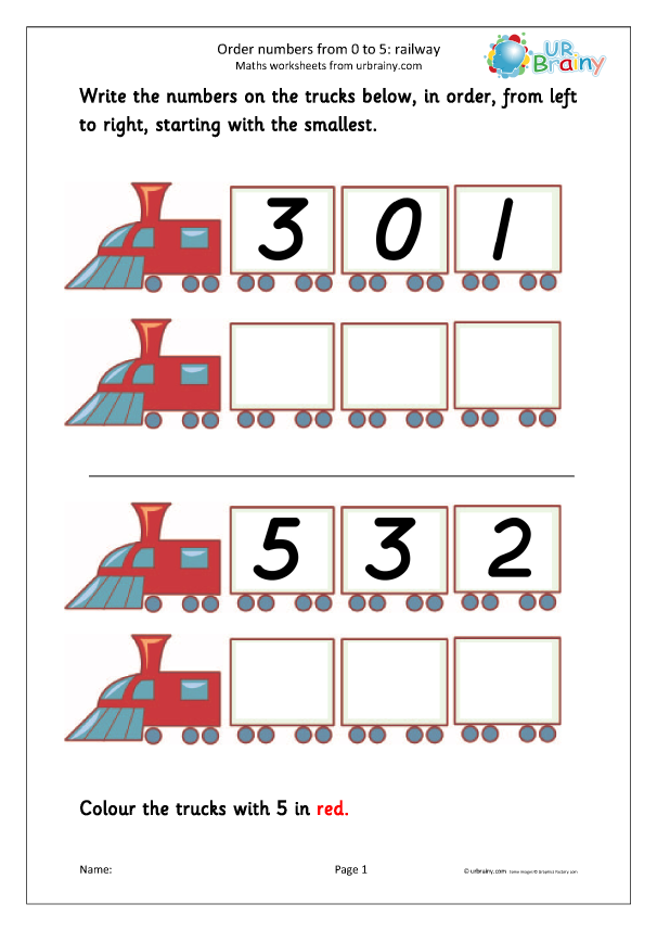 Preview of 'Order 3 numbers - railway'