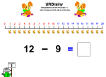 Using the Minus Sign with a Number Line