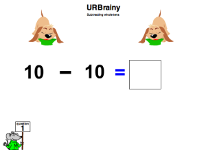 Preview of game Subtracting Pairs of Whole Tens