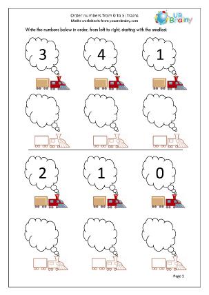Order 3 Numbers - Trains
