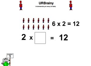 Preview of game Understanding an Array (Two Times Table)