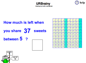 Begin To Share With A Remainder (Five Times Table)