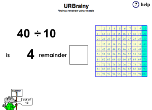Preview of game Finding a Remainder Using Ten Times Table