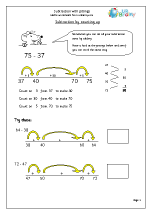 Subtraction with Jottings