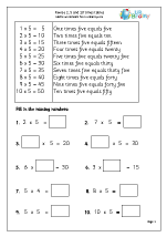 Revise 2x, 5x and 10x tables