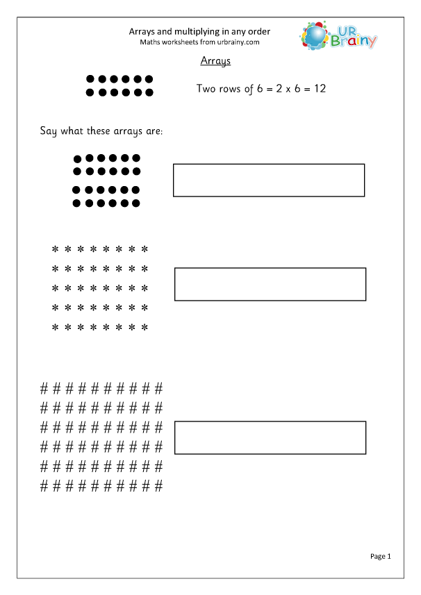 Preview of ' Revise arrays and multiplying in any order'
