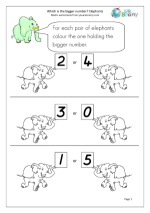 Which Number is Bigger? Elephants