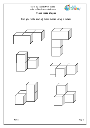 make 3d shapes geometry shape maths worksheets for year 3 age 7 8. Black Bedroom Furniture Sets. Home Design Ideas
