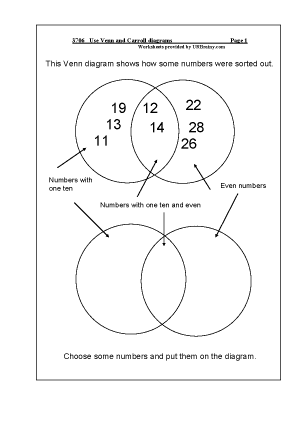 all worksheets  u00bb venn and carroll diagrams year 6