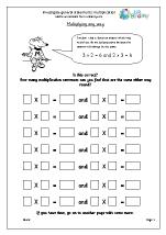Investigate Statements Multiplication