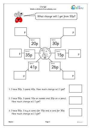 Preview of worksheet  Change