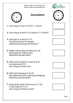math worksheet : solve time problems reasoning problem solving maths worksheets for  : Year 7 Maths Worksheet