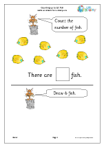 Counting up to 10 - Fish