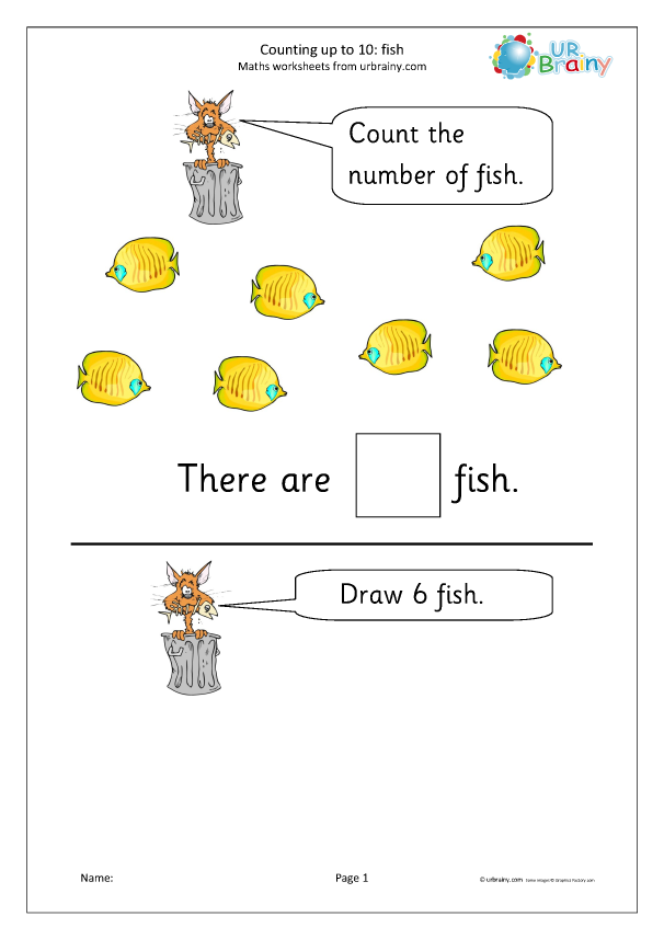 Preview of 'Counting up to 10 - fish'