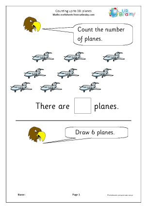 Counting up to 10 - Planes