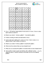Number square patterns