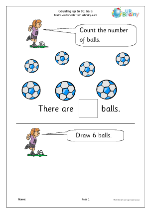 Counting up to 10 - Balls