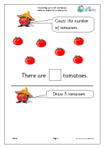 Counting up to 10 - Tomatoes
