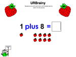 Use 'plus' and the equals sign to a total of 10 with pictures