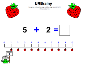 Use the '+' Sign and Equals to a Total of 10 with a Number Line