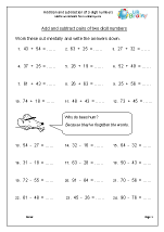 math worksheet : subtraction maths worksheets for year 4 age 8 9  : Addition And Subtraction Worksheets Ks2