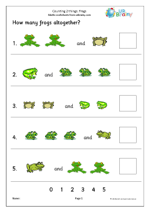 Counting two sets - frogs